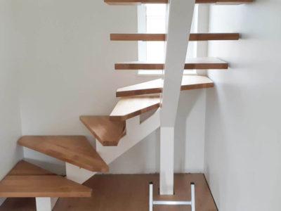 Zentrale Tragbalken Treppen