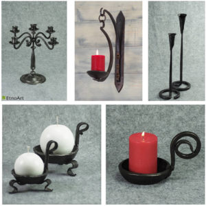 Wrought Iron Candleholders